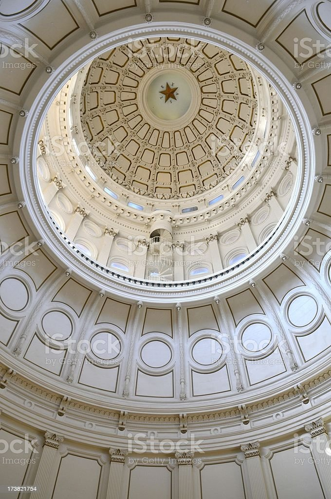 Texas Capitol Dome royalty-free stock photo