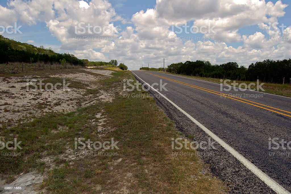Texas County Road stock photo