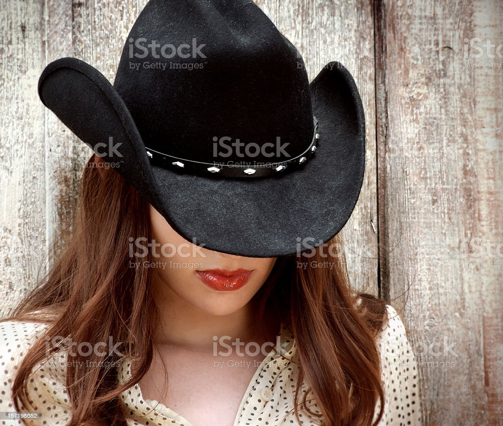 Texas Cowgirl stock photo
