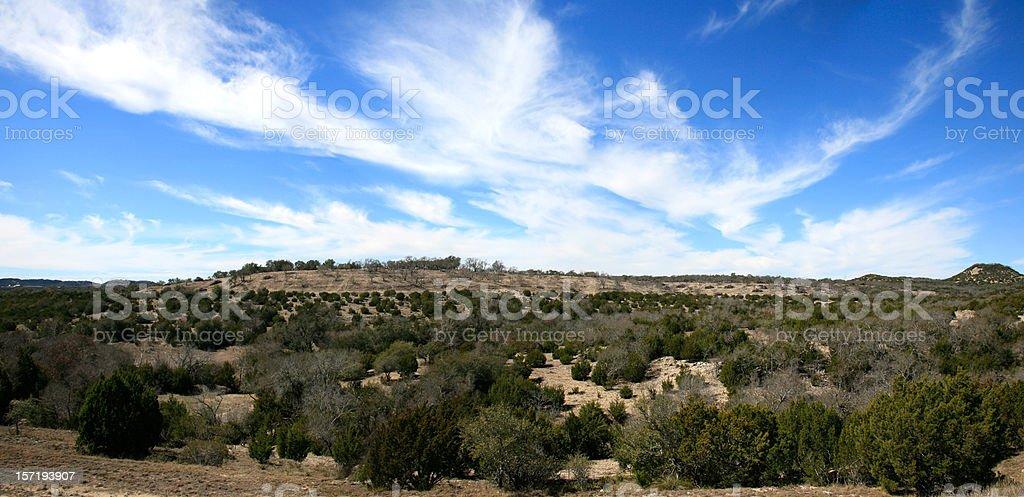 Texas Hill Country XXL Panorama stock photo