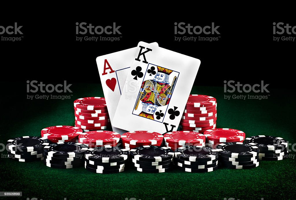 Texas hold 'em poker stock photo