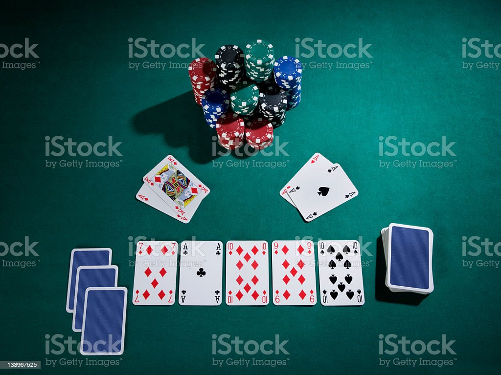 texas hold'em board royalty-free stock photo