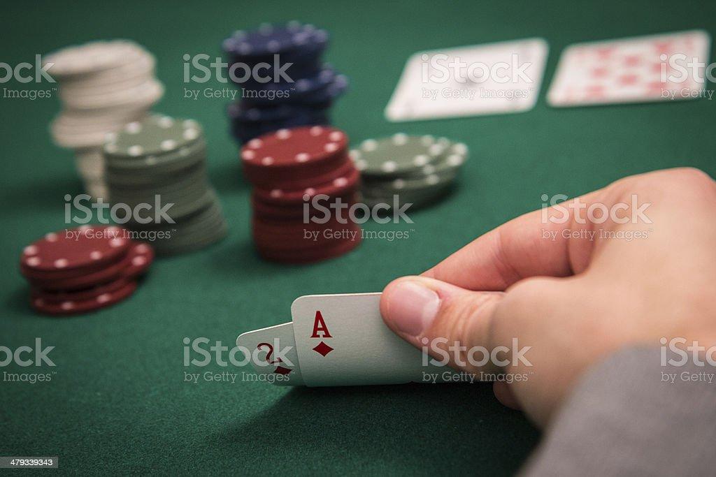Texas Hold'em Poker stock photo