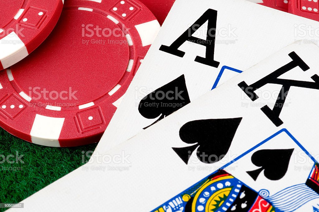 Texas hold'em poker stock photo