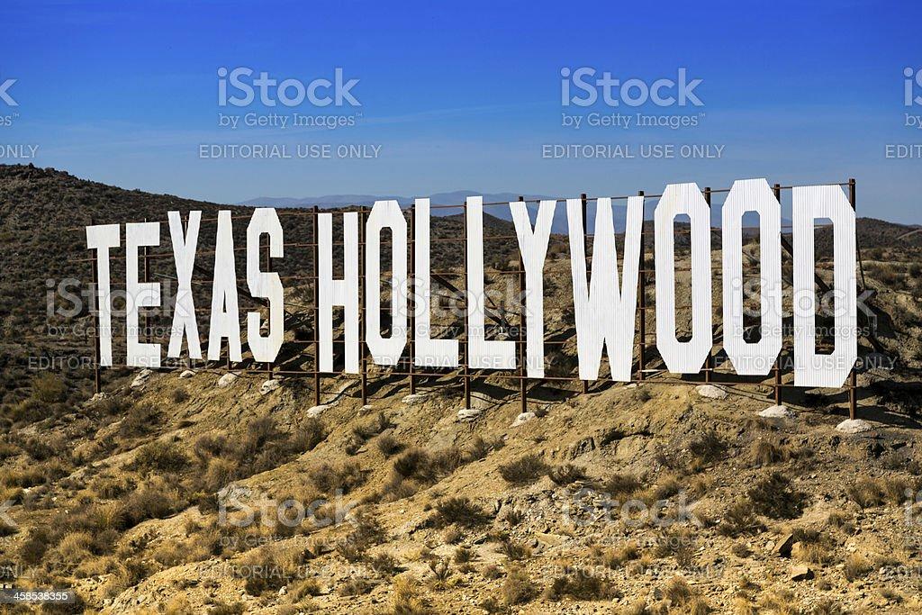Texas Hollywood panel stock photo