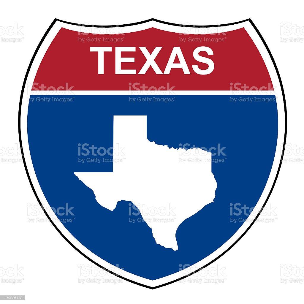 Texas interstate highway shield stock photo