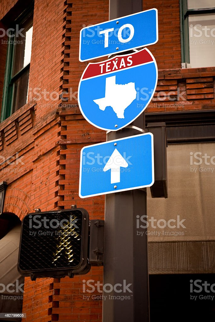 Texas Interstate Sign royalty-free stock photo