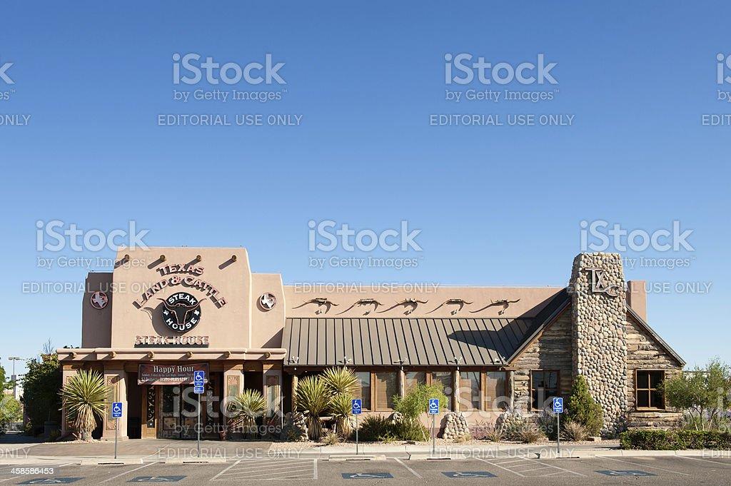 Texas Land & Cattle Steak House stock photo