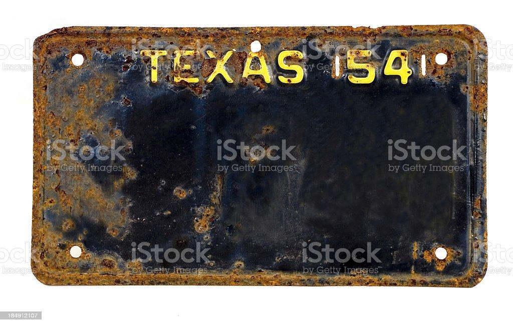 texas license plate stock photo