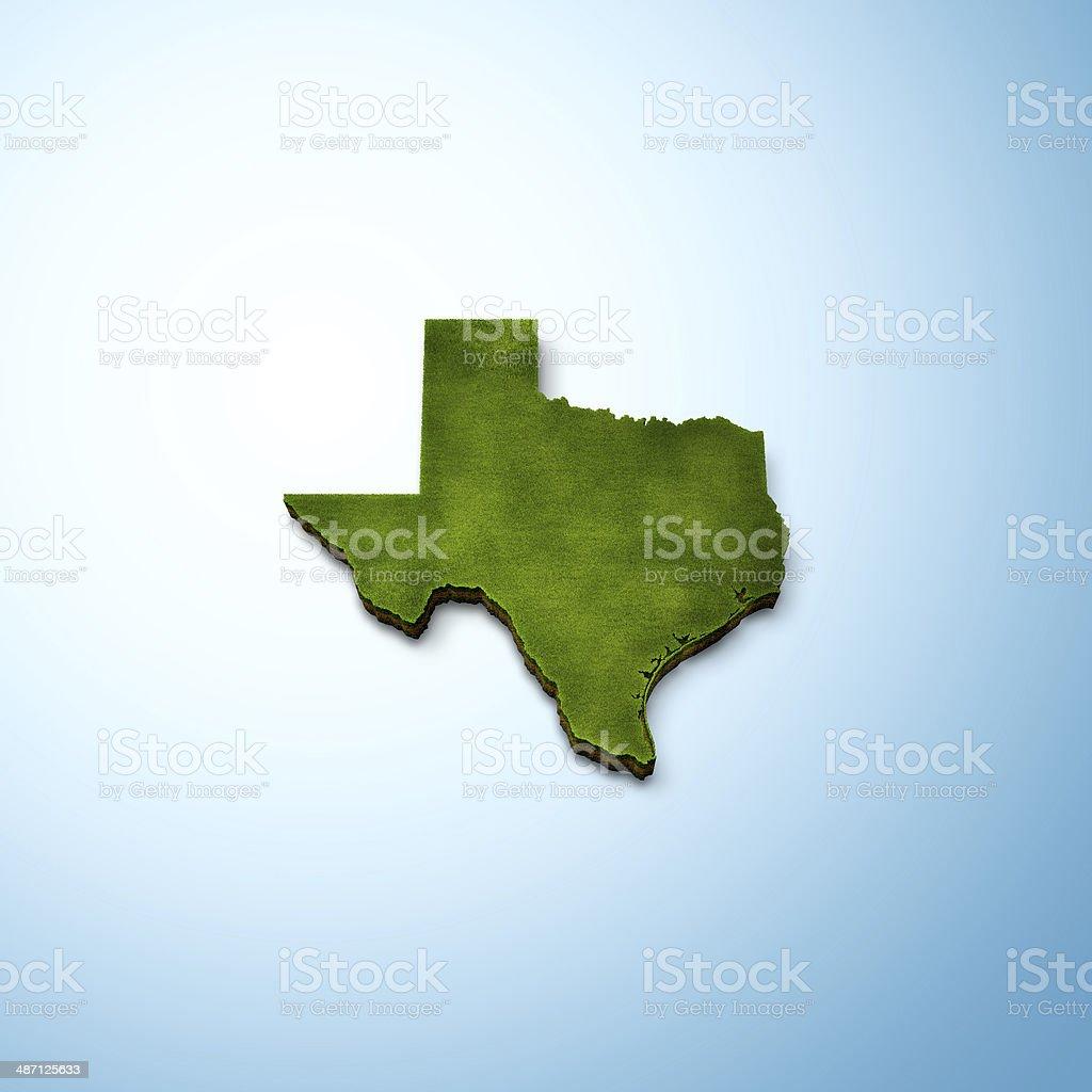 Texas Map stock photo