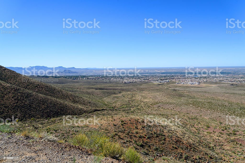 Texas, New Mexico and Chihuahua Mexico Panorama stock photo