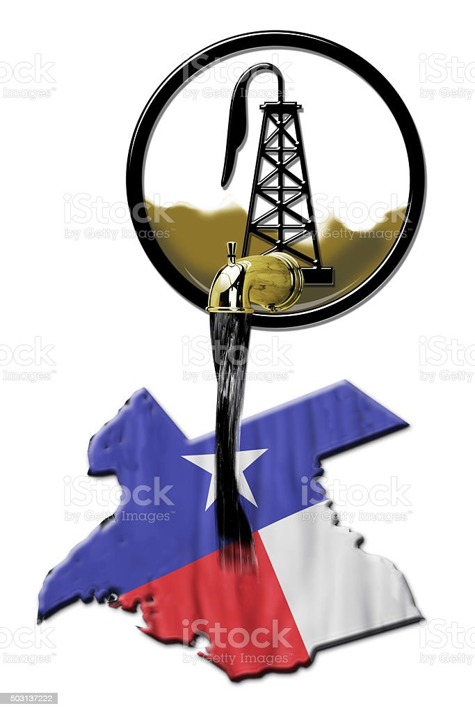 Texas Oil. stock photo