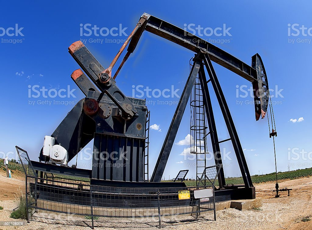 Texas Oil Rig. stock photo