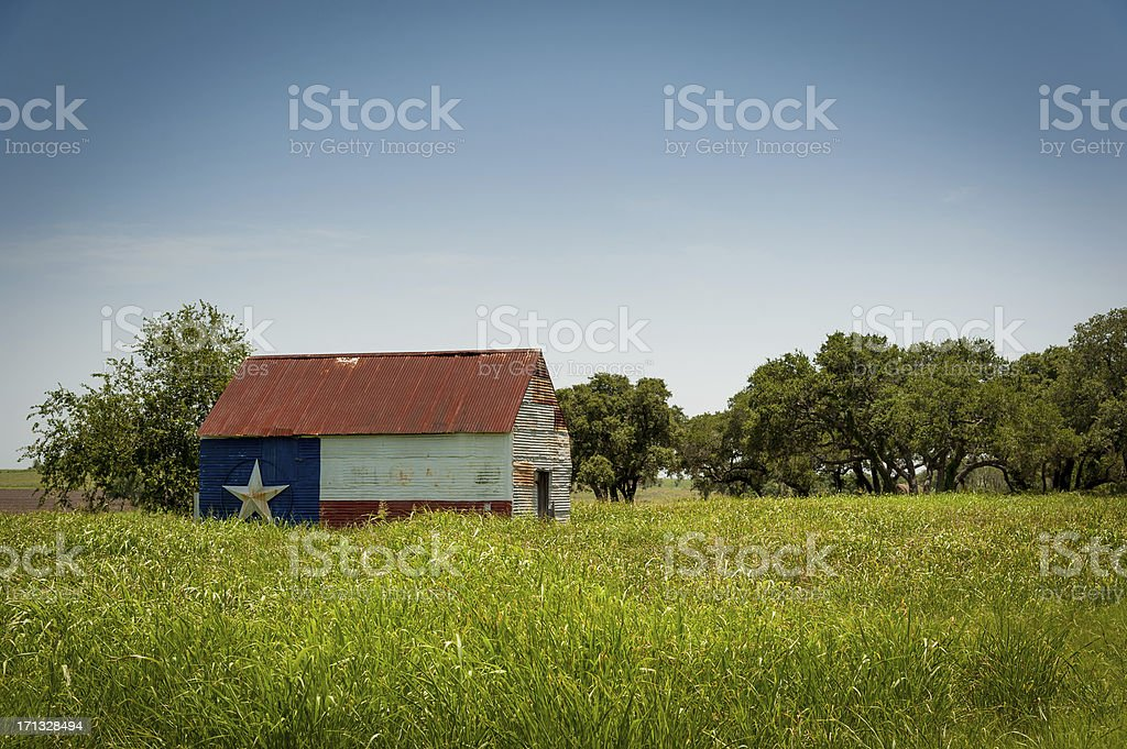 Texas Proud Barn stock photo