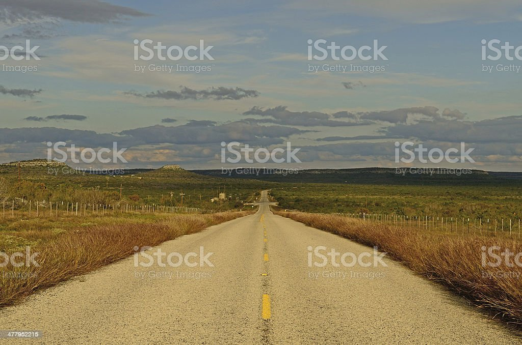 Texas Road stock photo