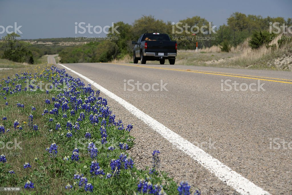 Texas road trip stock photo