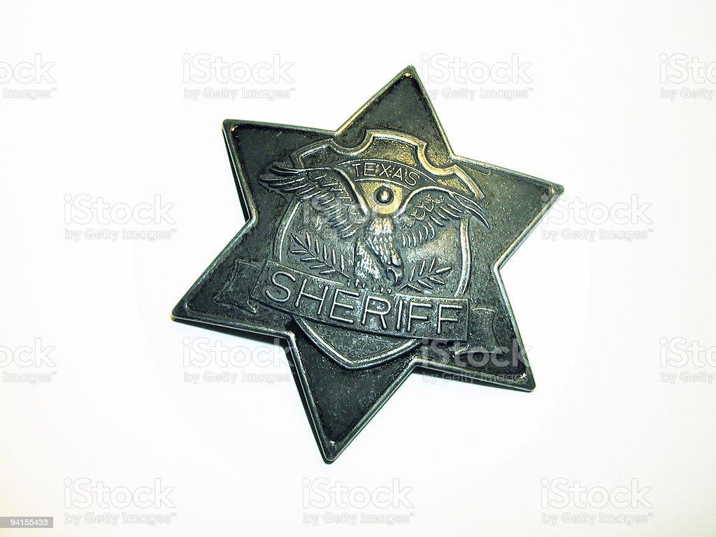 texas sheriff star royalty-free stock photo