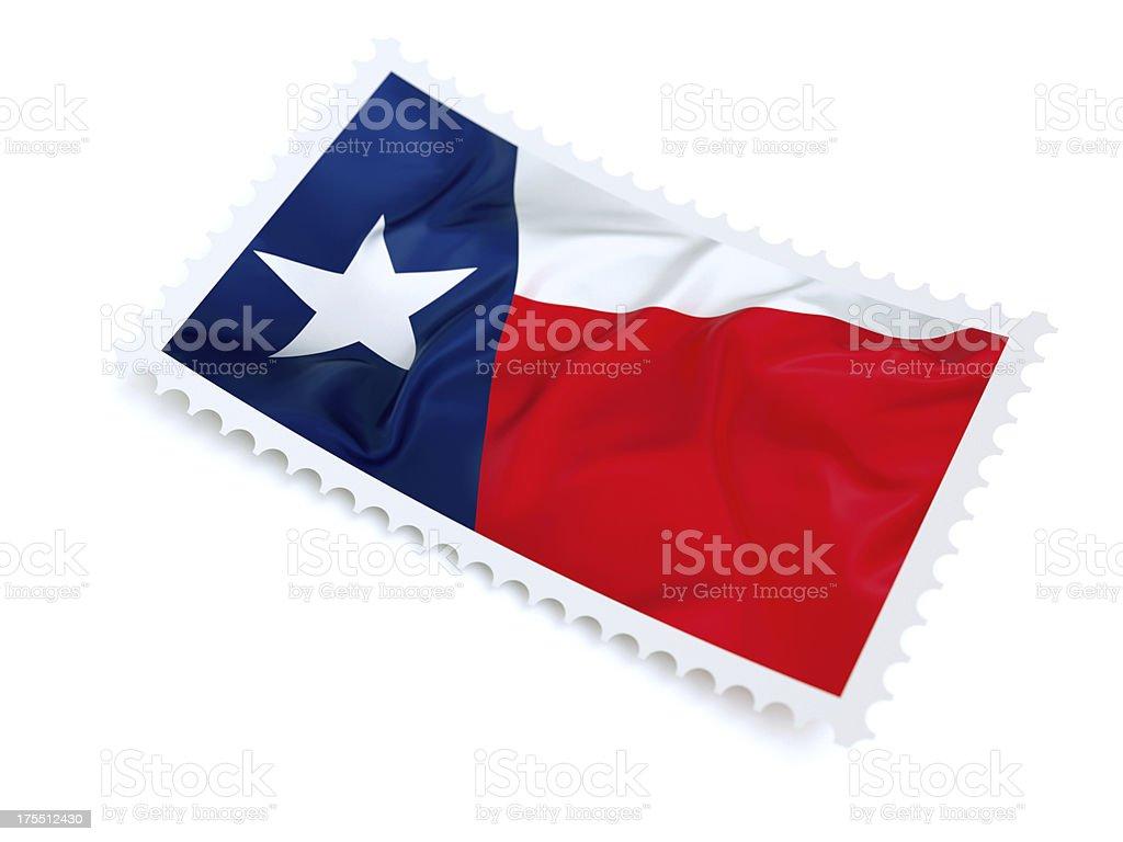 Texas Stamp stock photo