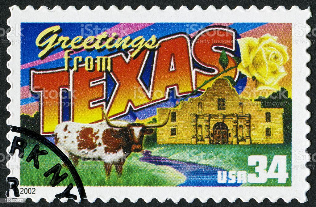 Texas Stamp royalty-free stock photo