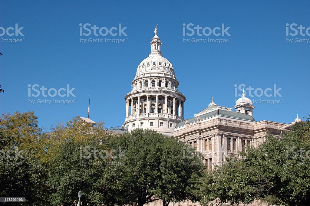Texas state capital building in Austin royalty-free stock photo
