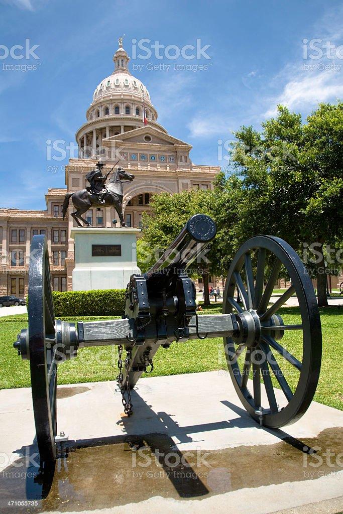 Texas State Capitol Austin Cannon stock photo
