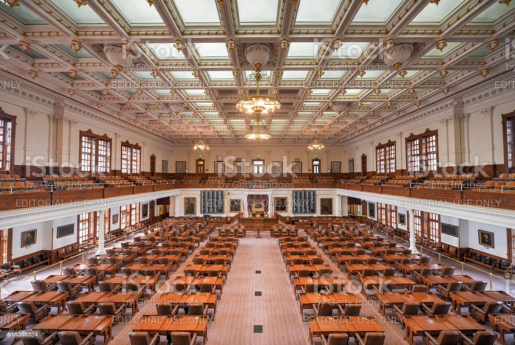 Texas State Capitol House of Representatives, Austin, Texas stock photo
