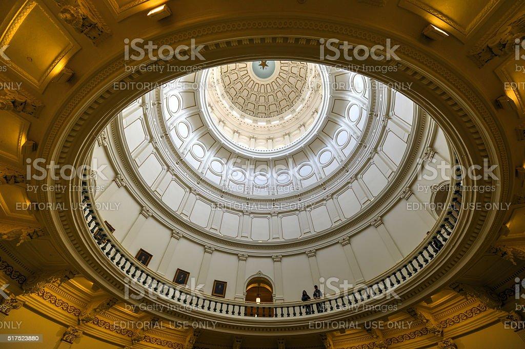 Texas State Capitol Rotunda, Austin, Texas stock photo