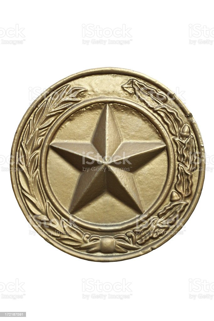 Texas State Seal Isolated with Clipping Path royalty-free stock photo