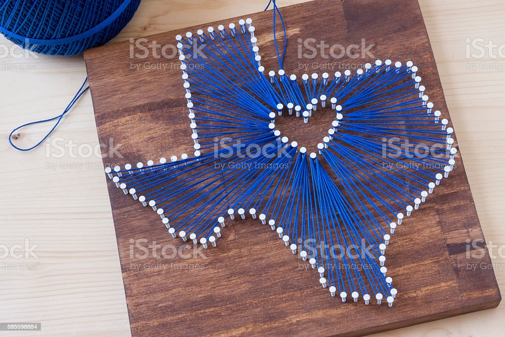 Texas String Art stock photo