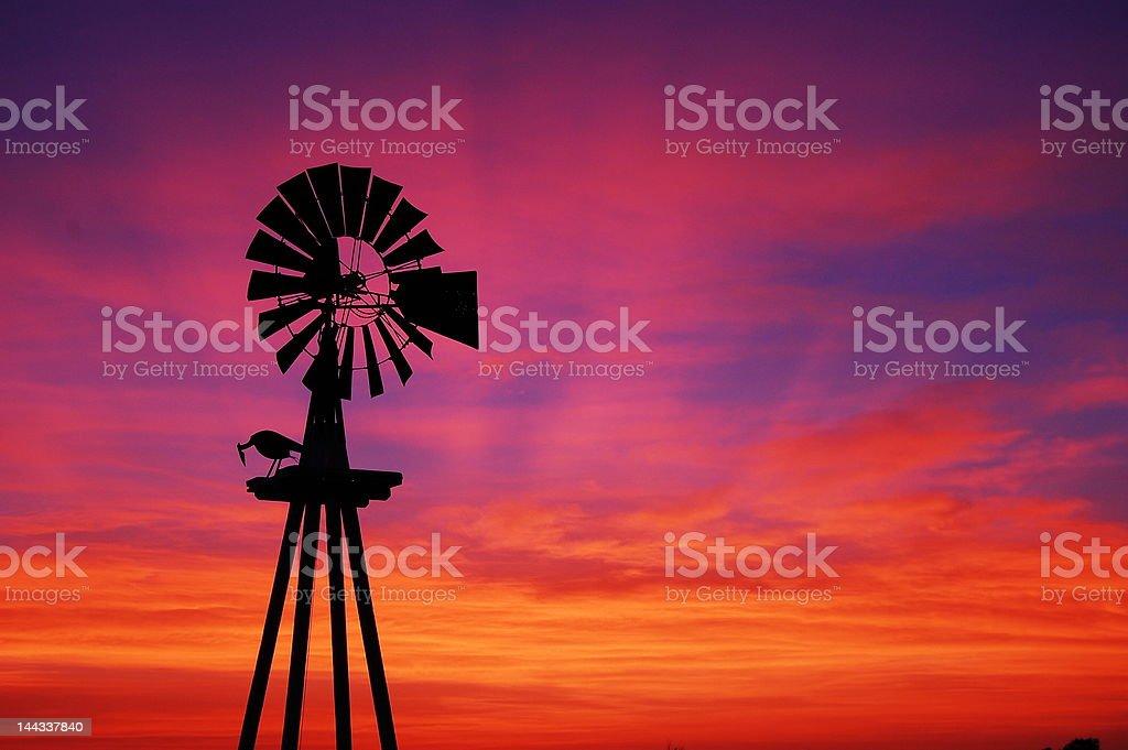 Texas Sunset stock photo