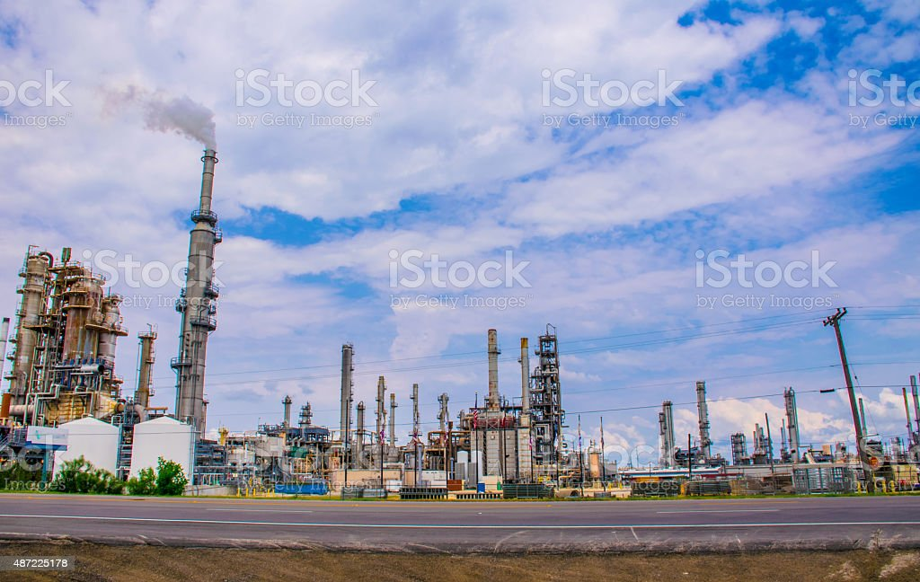 Texas The Land of Oil and Gas Fossil Fuel Pollution stock photo