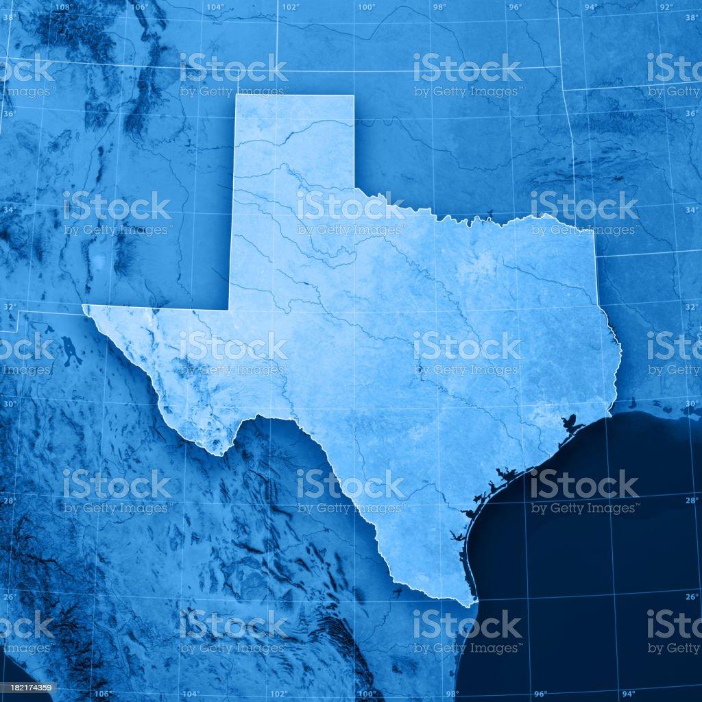 Texas Topographic Map stock photo