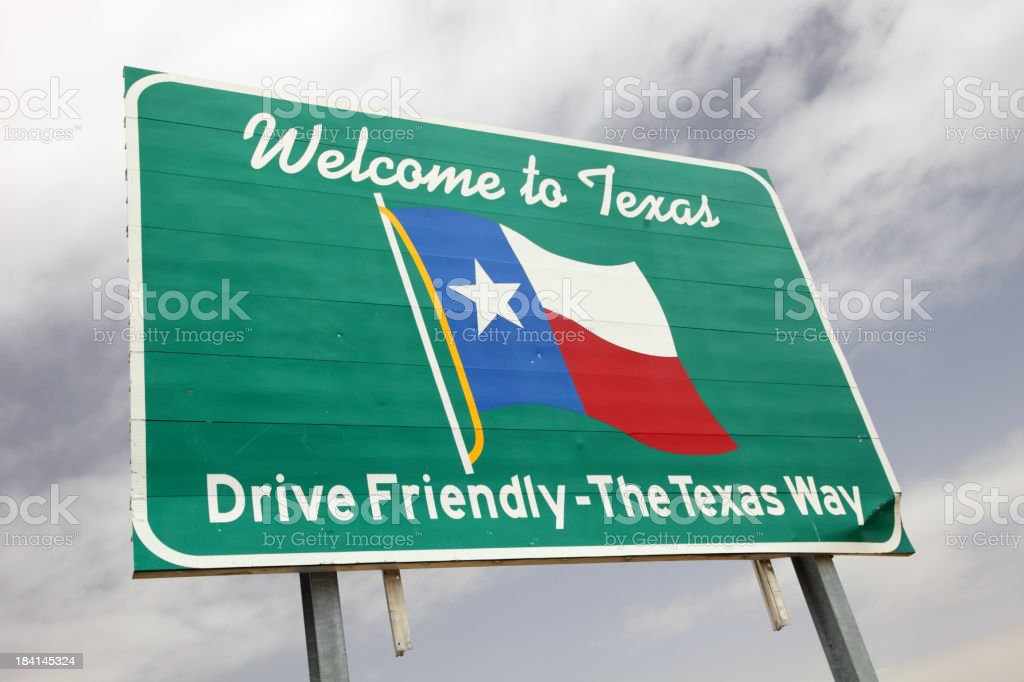Texas Welcome Sign royalty-free stock photo