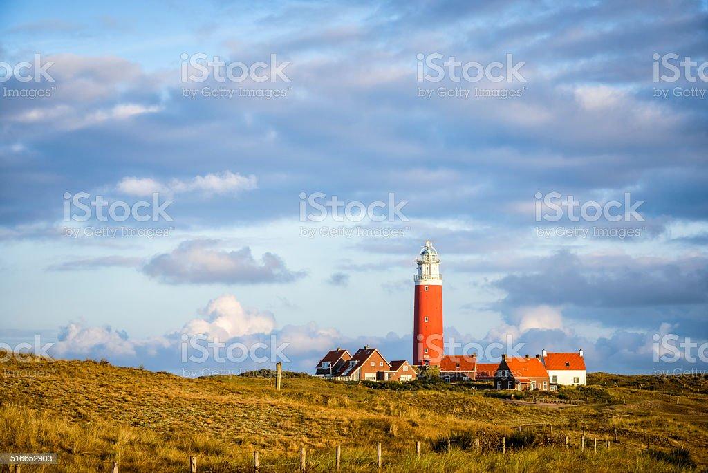 Texel lighthouse stock photo