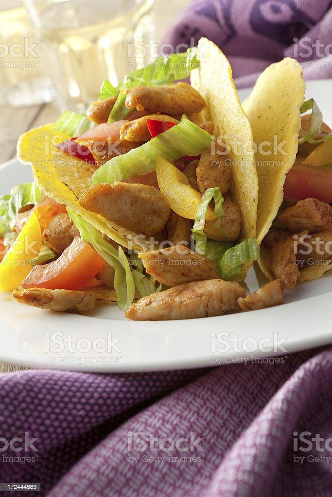 TexMex Food: Chicken Taco Still Life royalty-free stock photo