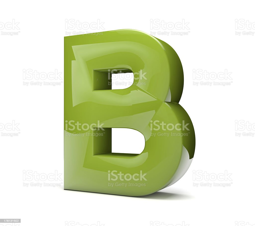text B royalty-free stock photo
