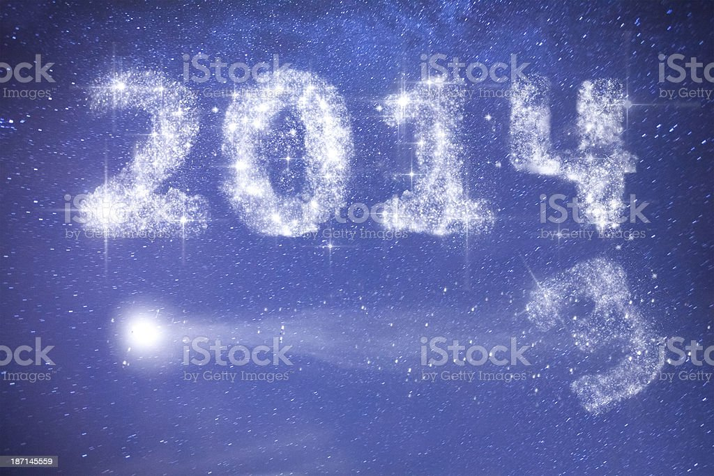 2014 text by stars royalty-free stock photo