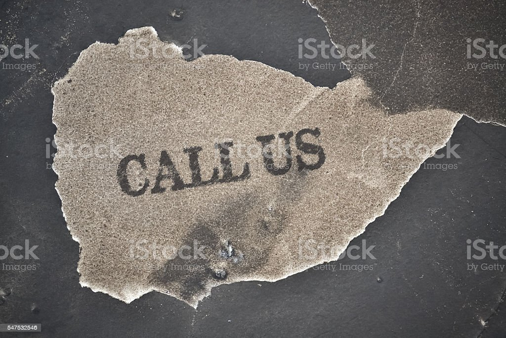 Text Call Us stock photo