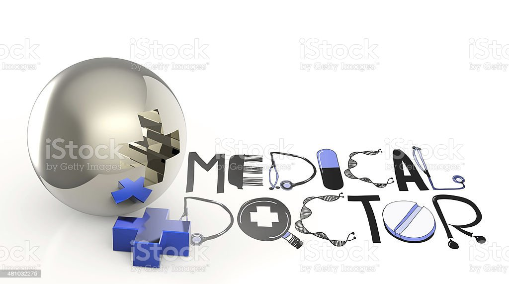 text design MEDICAL DOCTOR royalty-free stock photo