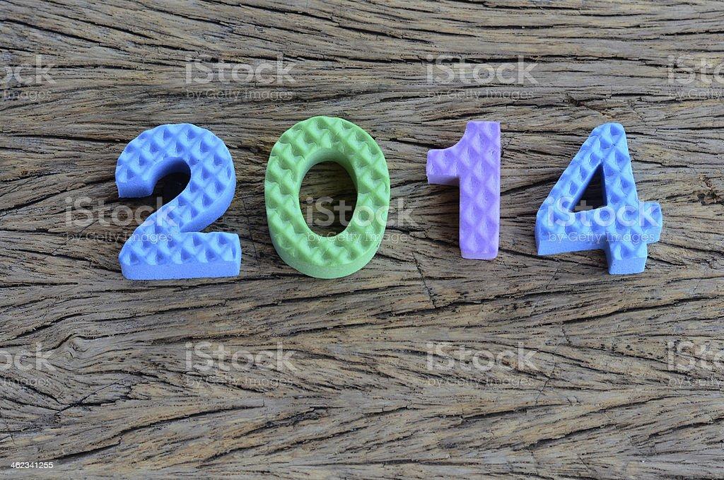 2014 text design stock photo