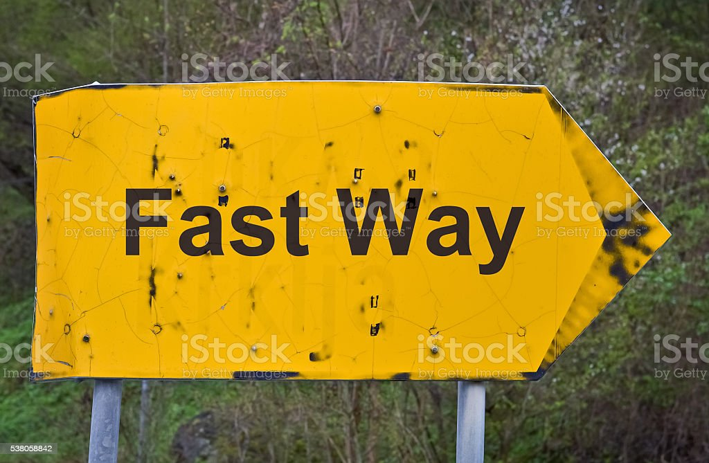 Text Fast Way stock photo