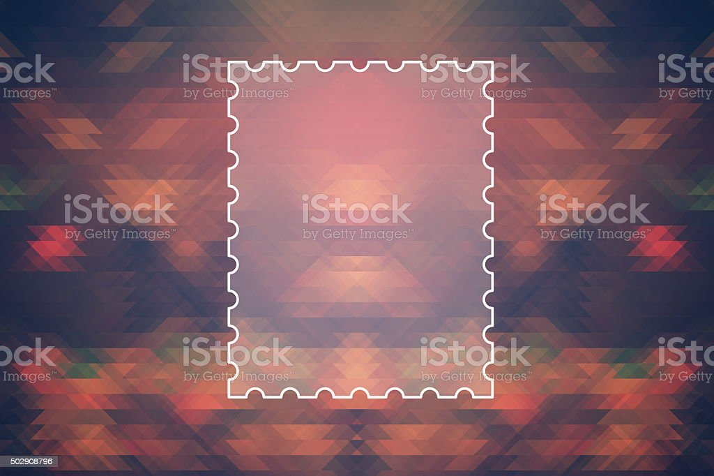 text frame on colored abstract triangle Background stock photo