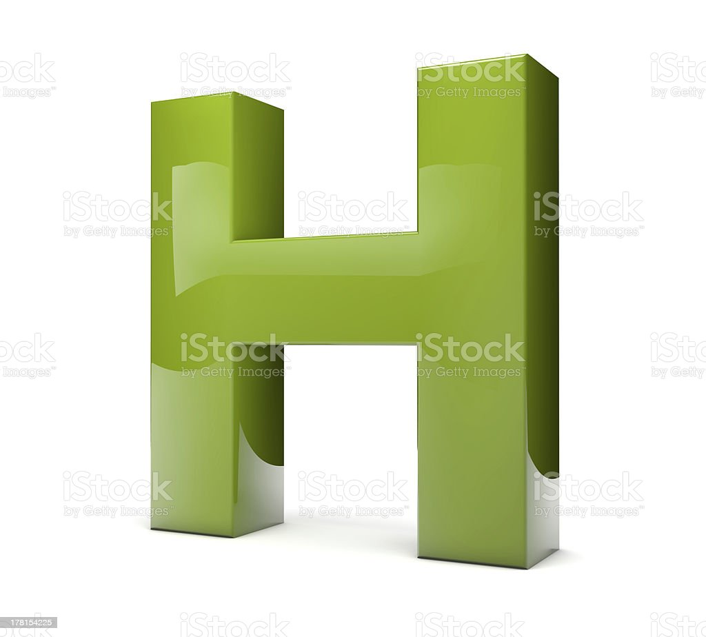 text H royalty-free stock photo