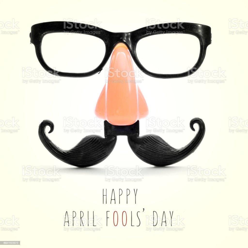 text happy april fools day stock photo