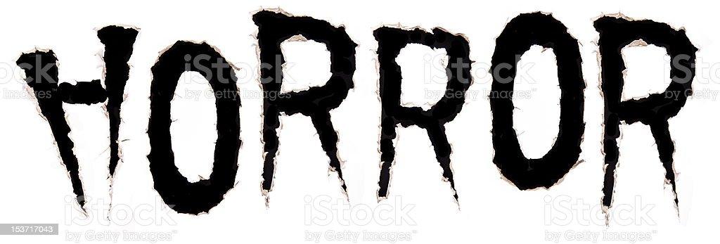 text Horror stock photo