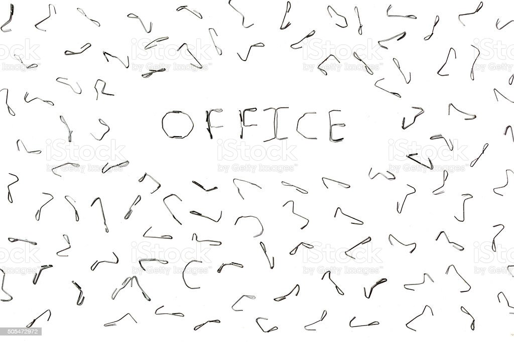Text in english. Office stock photo