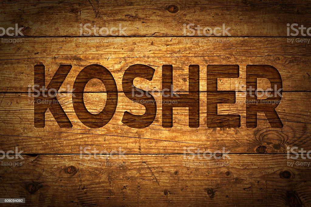 Text Kosher. stock photo