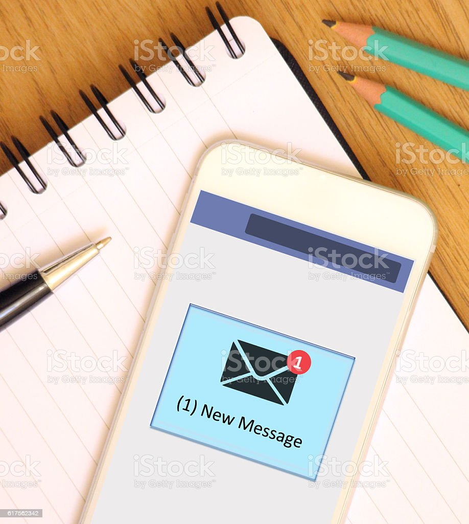 Text Message (SMS) stock photo