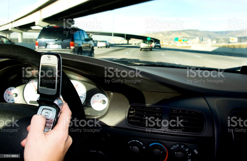 Text  messaging while Driving royalty-free stock photo