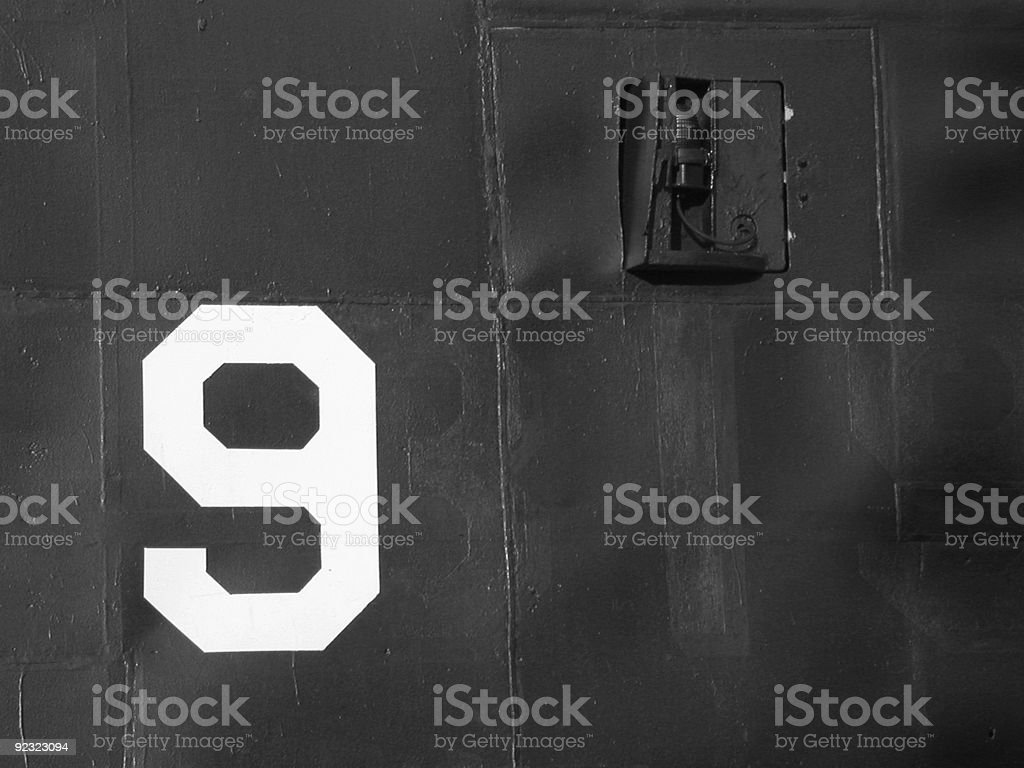 Text - Number 9 royalty-free stock photo